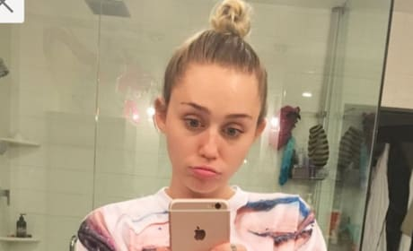 Unhappy Miley Cyrus