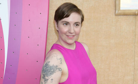 Lena Dunham in a Colorful Dress