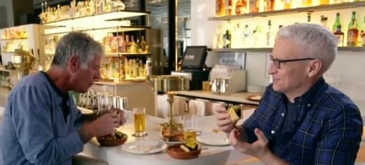 Anderson Cooper and Anthony Bourdain