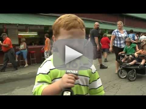 Child Acts as News Reporter