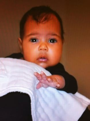 Kim Kardashian Baby Photo