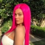 Kylie Jenner with Pink Wig