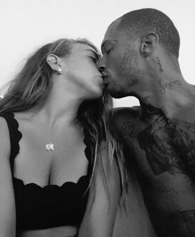 Chloe Green and Jeremy Meeks, Black and White Kiss