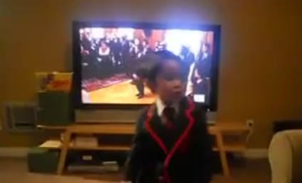 "Gleeful Mini-Warbler Performs ""Teenage Dream"""