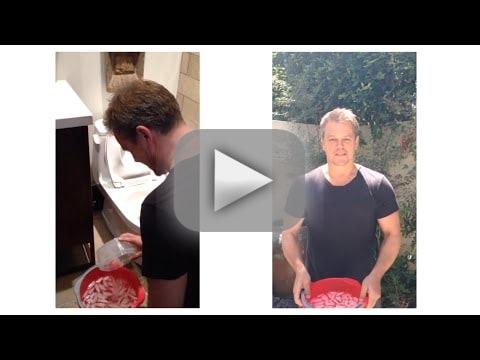 Matt Damon Accepts Ice Bucket Challenge