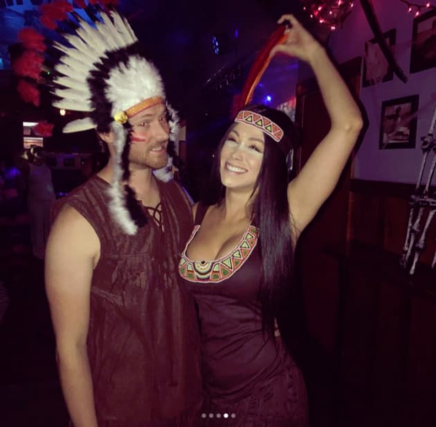 Paola Mayfield and Russ Mayfield, Native American Costumes