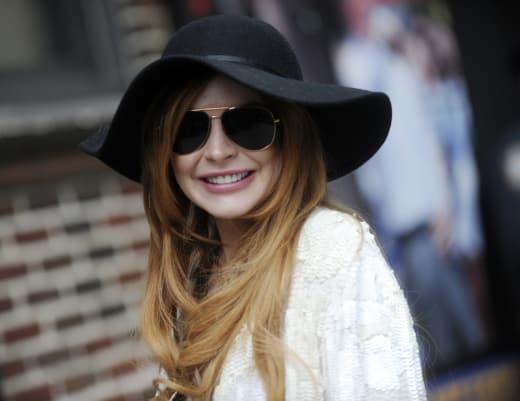 Lindsay Lohan Smiling Photo