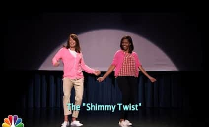 "Michelle Obama Joins Jimmy Fallon for ""The Evolution of Mom Dancing Part 2"""
