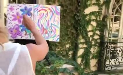 Britney Spears: Look at My Awesome Painting (and Bra)!