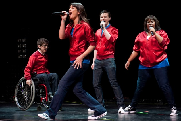 Kevin McHale, Lea Michele, Chris Colfer and Amber Riley