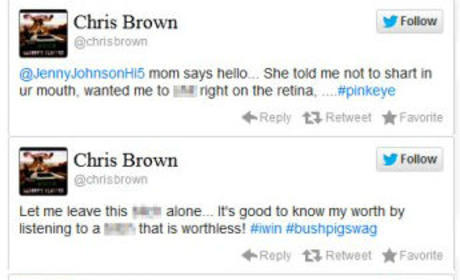Chris Brown - Jenny Johnson Twitter War