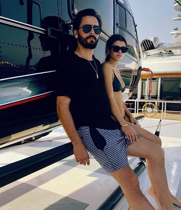 Scott Disick and Sofia Richie, Helicopter PDA