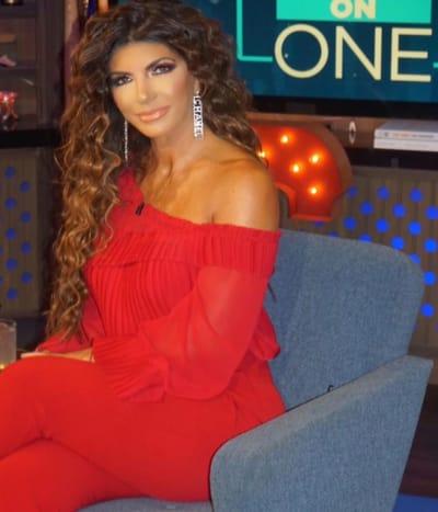 Teresa Giudice on Bravo Couch