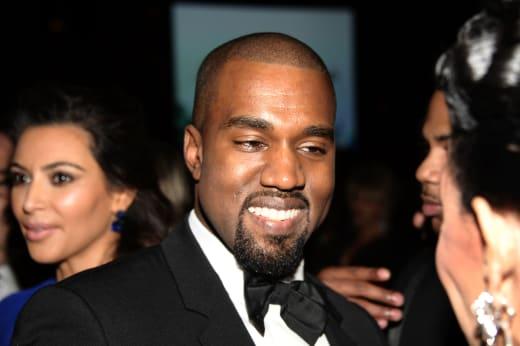 Kanye West Smiling