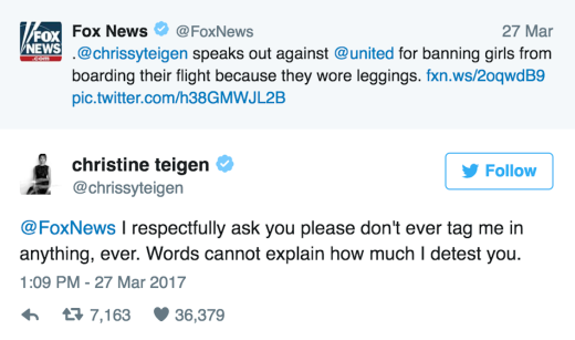 Chrissy Teigen to Fox News: Leave Me the Eff Alone! - The