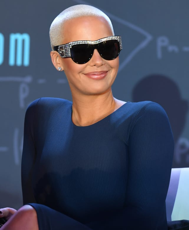 Amber rose all smiles