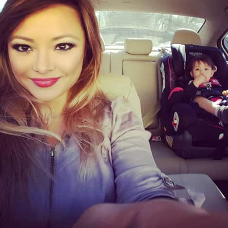 Tila Tequila in Her Car