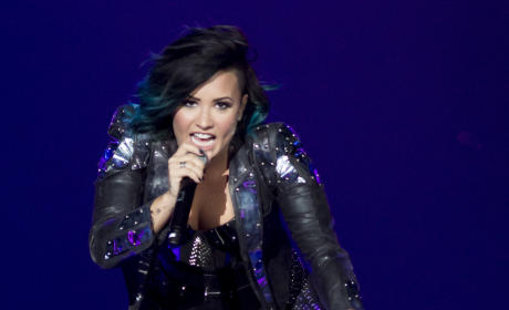Demi Lovato at the Prudential Center