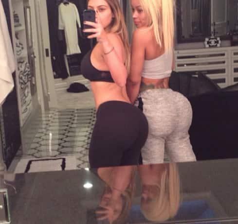 Kim Kardashian and Blac Chyna Butt Selfie