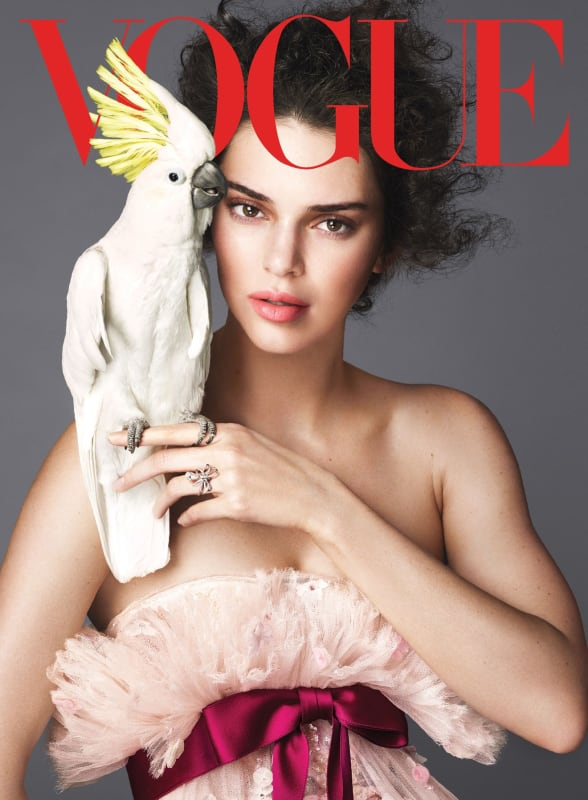 Kendall jenner with a bird