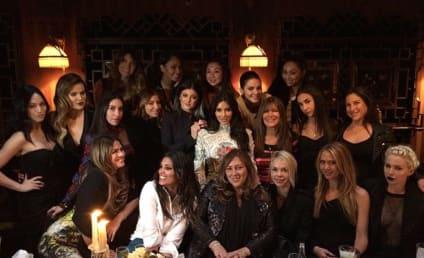 Kim Kardashian Bachelorette Party Photo: Last Supper Time!