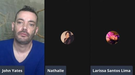 Nathalie and Larissa Lima on YouTube with John Yates (May 2021)