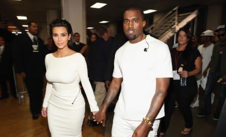 Kim Kardashiana and Kanye West: 2012 BET Awards