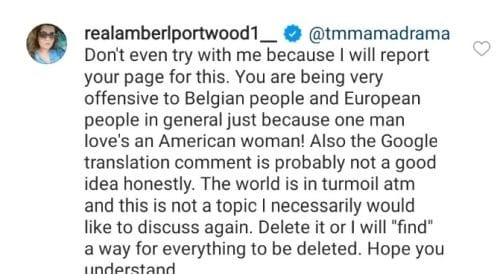 Entonces Amber se volteó