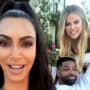 Kim Kardashian, Tristan Thompson, and Khloe Kardashian