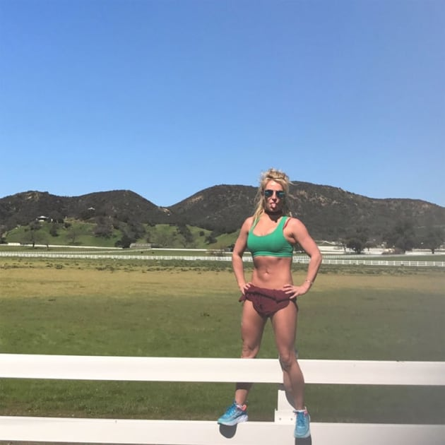 Britney Spears Workout Pic