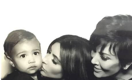 Kim Kardashian, Kris Jenner and North West