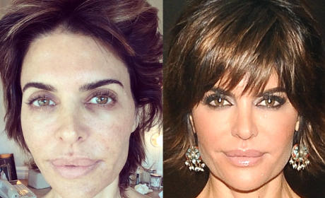 17 Photos of Real Housewives With & Without Makeup