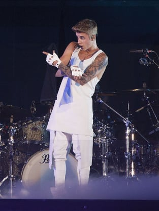 Justin Bieber with Tattoos