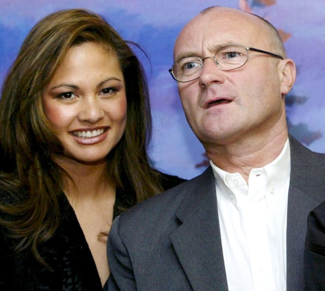 Phil Collins and Orianne Cevey