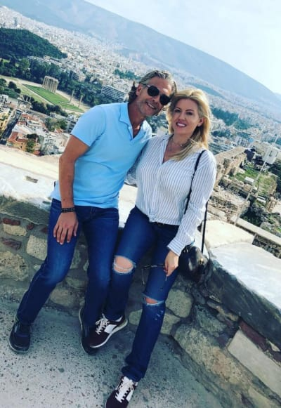 David Beador and Lesley Cook in Greece