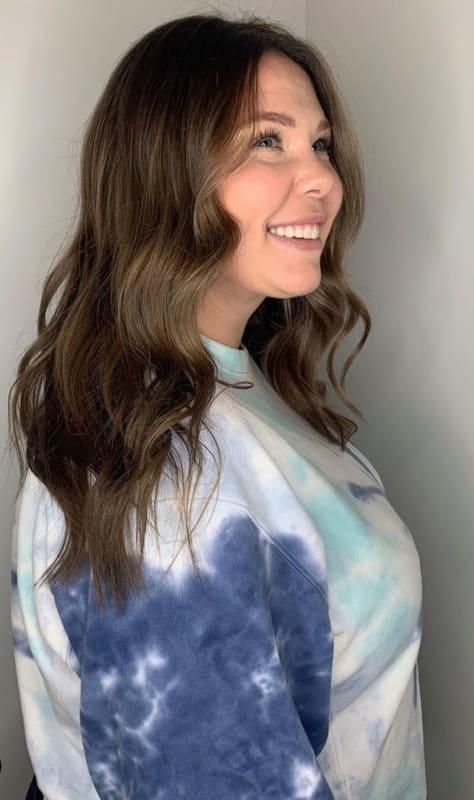 Kailyn lowry with dark hair