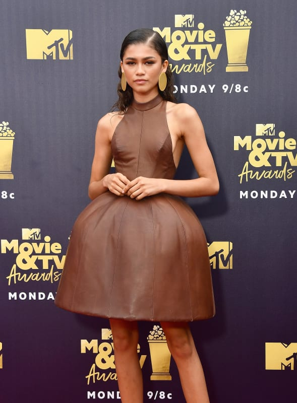 Zendaya goes brown