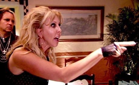 Vicki Points Fingers