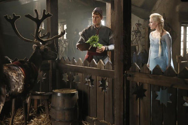 Sven, Kristoff and Elsa