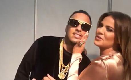 Khloe Kardashian and French Montana in Africa