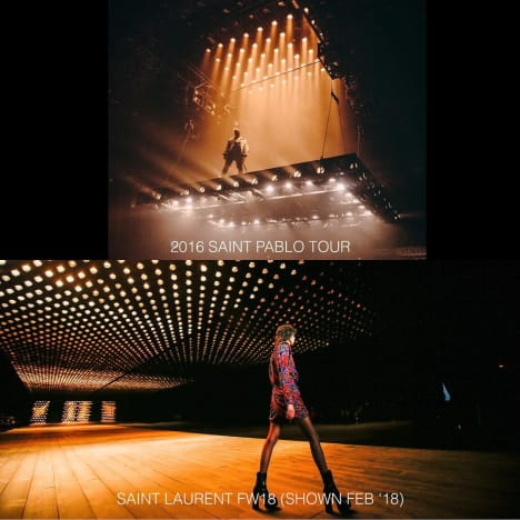 Kim Kardashian accuses Saint Laurent of stealing Kanye stage design