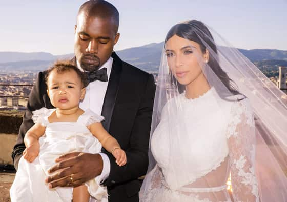 Kim, Kanye and North