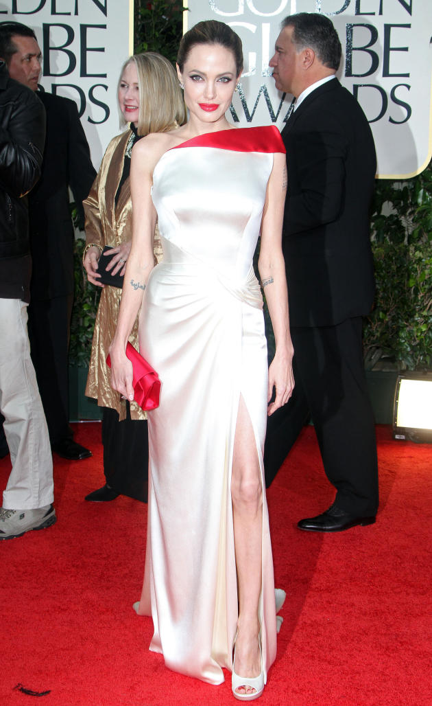 Angelina Jolie at the Golden Globes