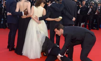 Vitalii Sediuk Crawls Inside America Ferrera's Dress on Cannes Red Carpet, Creeps Out World
