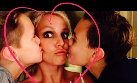 Britney Spears, Sons Sean and Jayden, 2017
