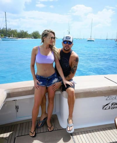 Brittany Kerr and Jason Aldean, Vacation Pic