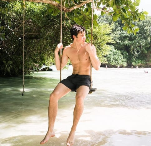 Shawn Mendes on a Swing