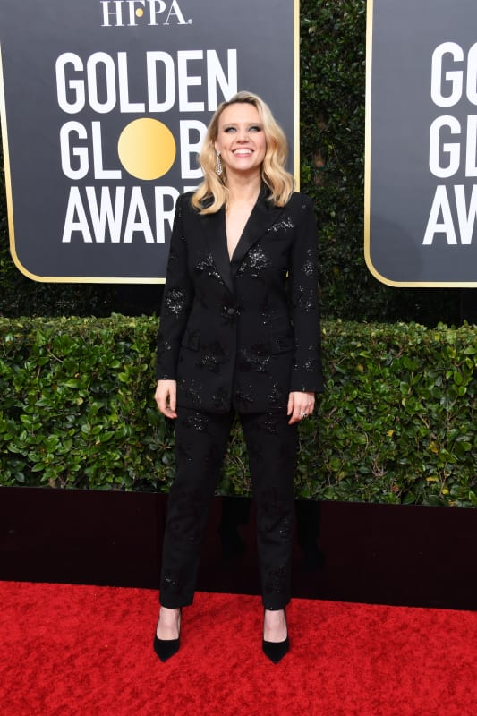 Kate mckinnon at the globes
