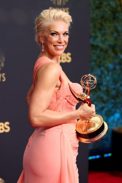 Hannah Waddingham Holds Emmy Award