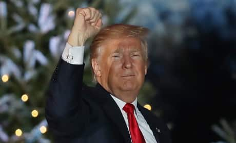 Donald Trump Raises a Fist